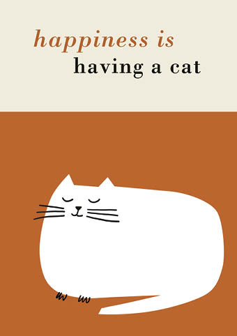 Having a Cat Greeting Card