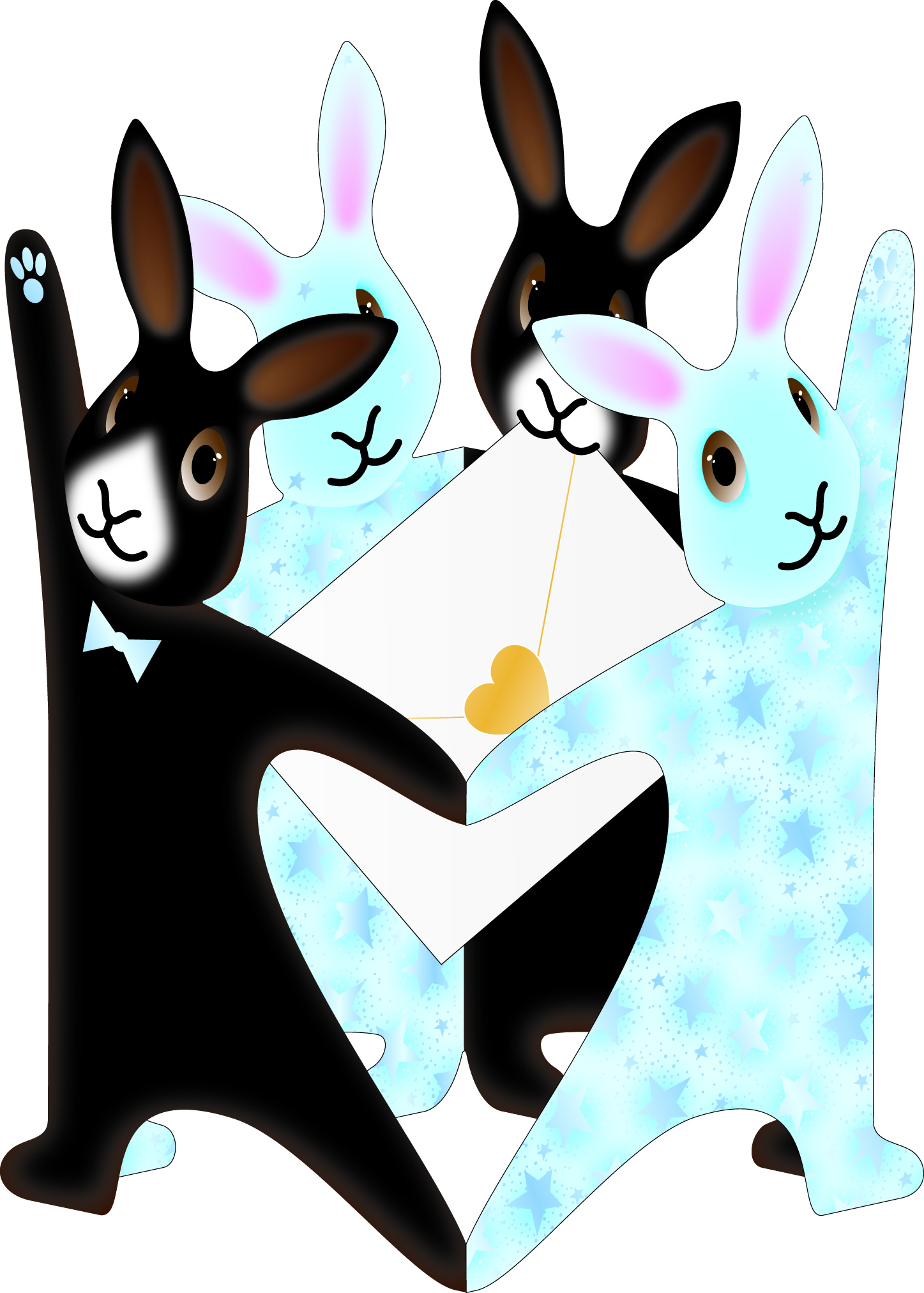 Bunnies Pop 3D Up Birthday Card