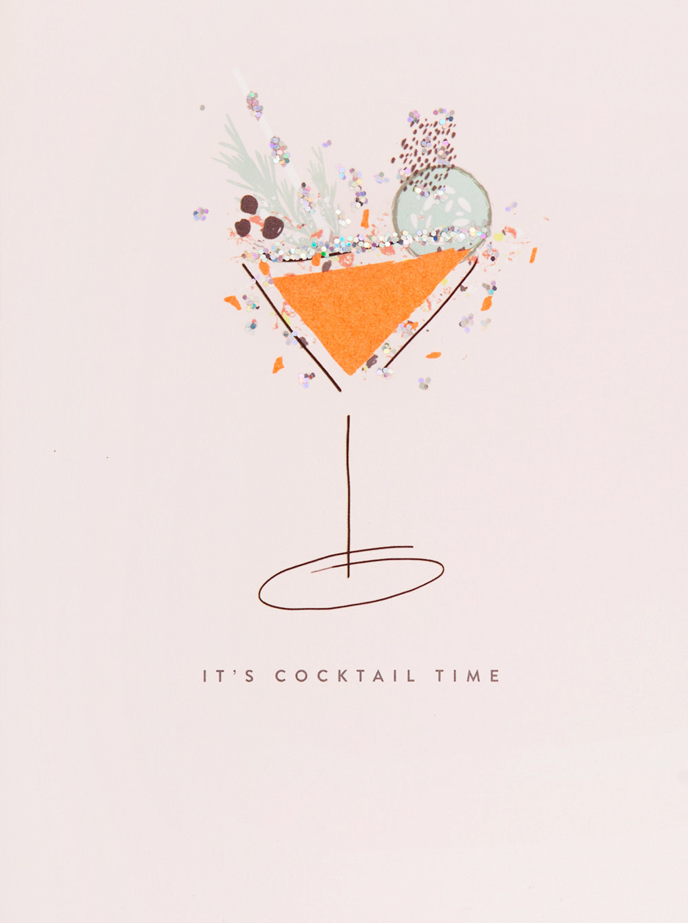 Cocktail Time Birthday Card
