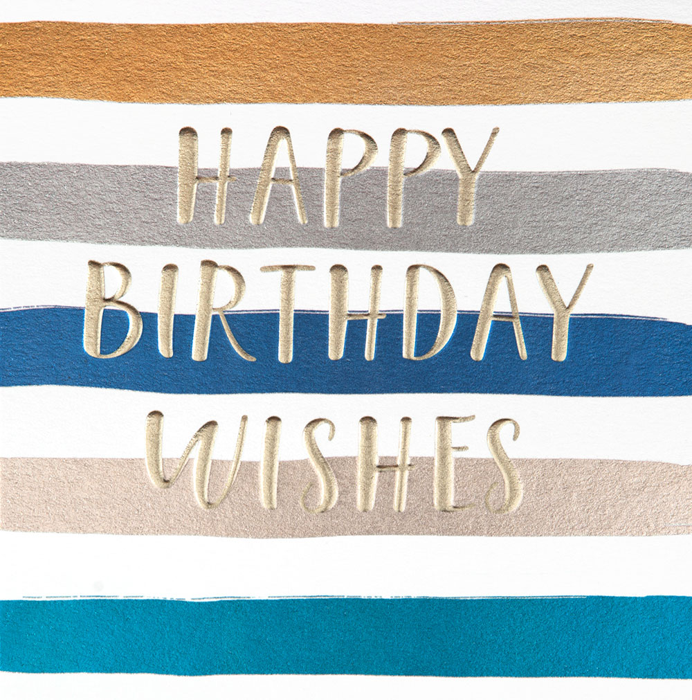 Foil Stripes Birthday Card