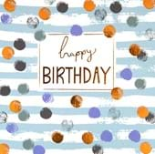 Copper Dots Birthday Card