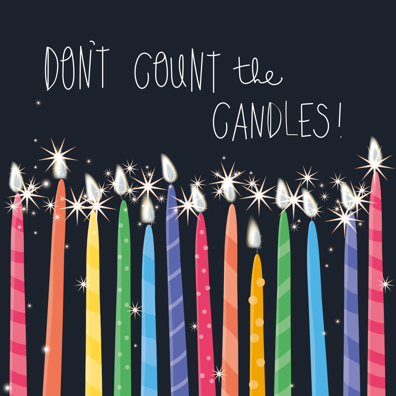 Don't Count the Candles Birthday Card