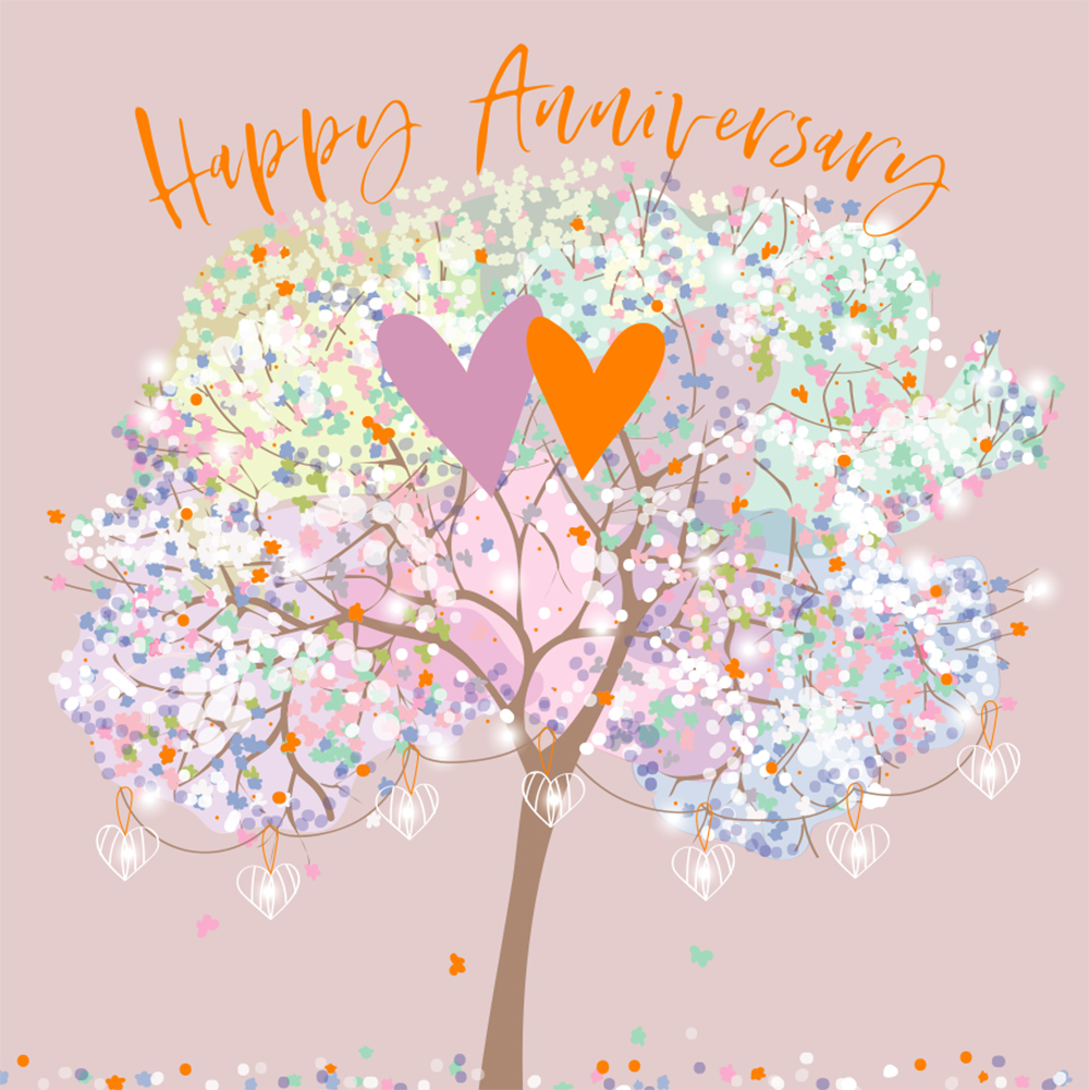 Tree of Love Anniversary Card