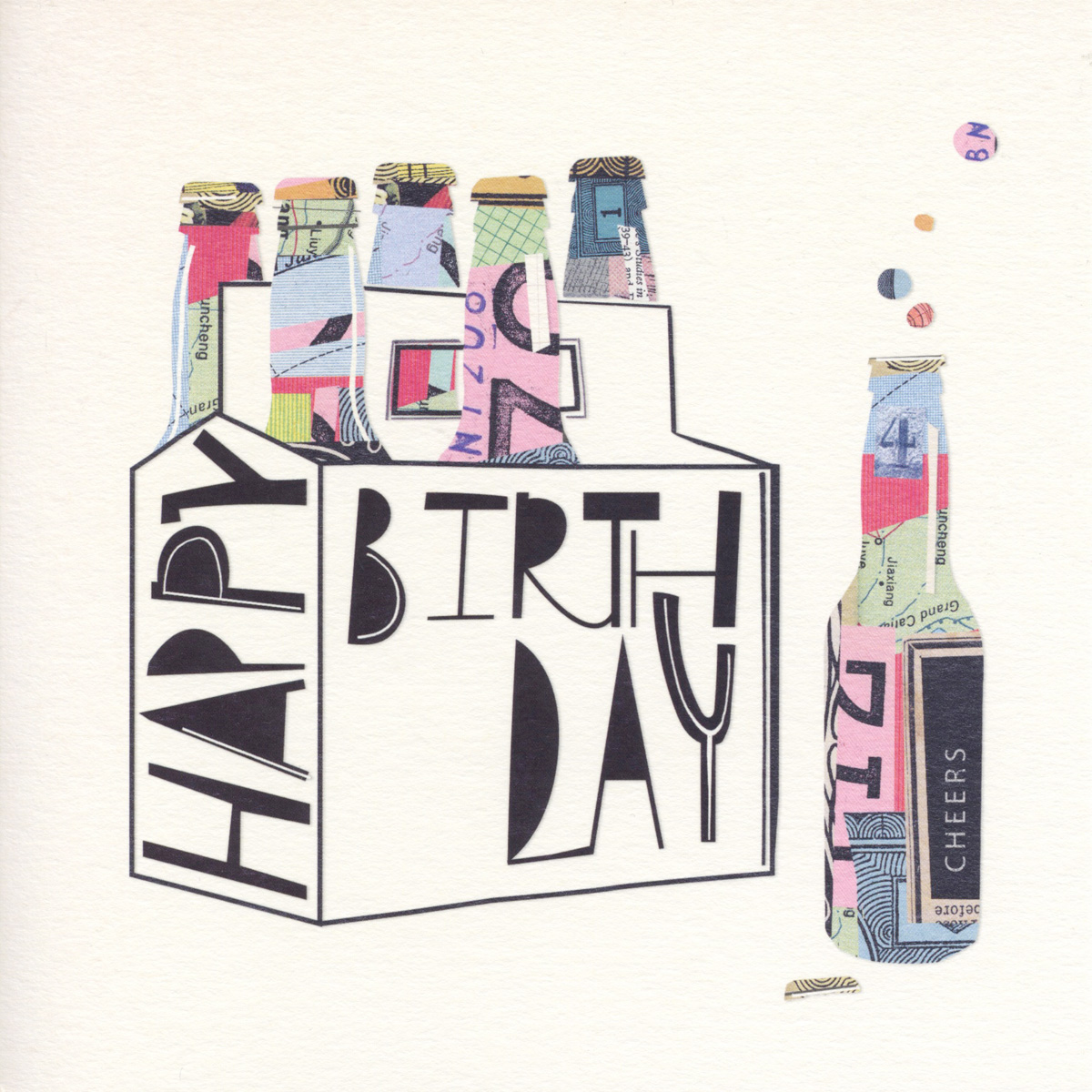 Crate of Beers Birthday Card