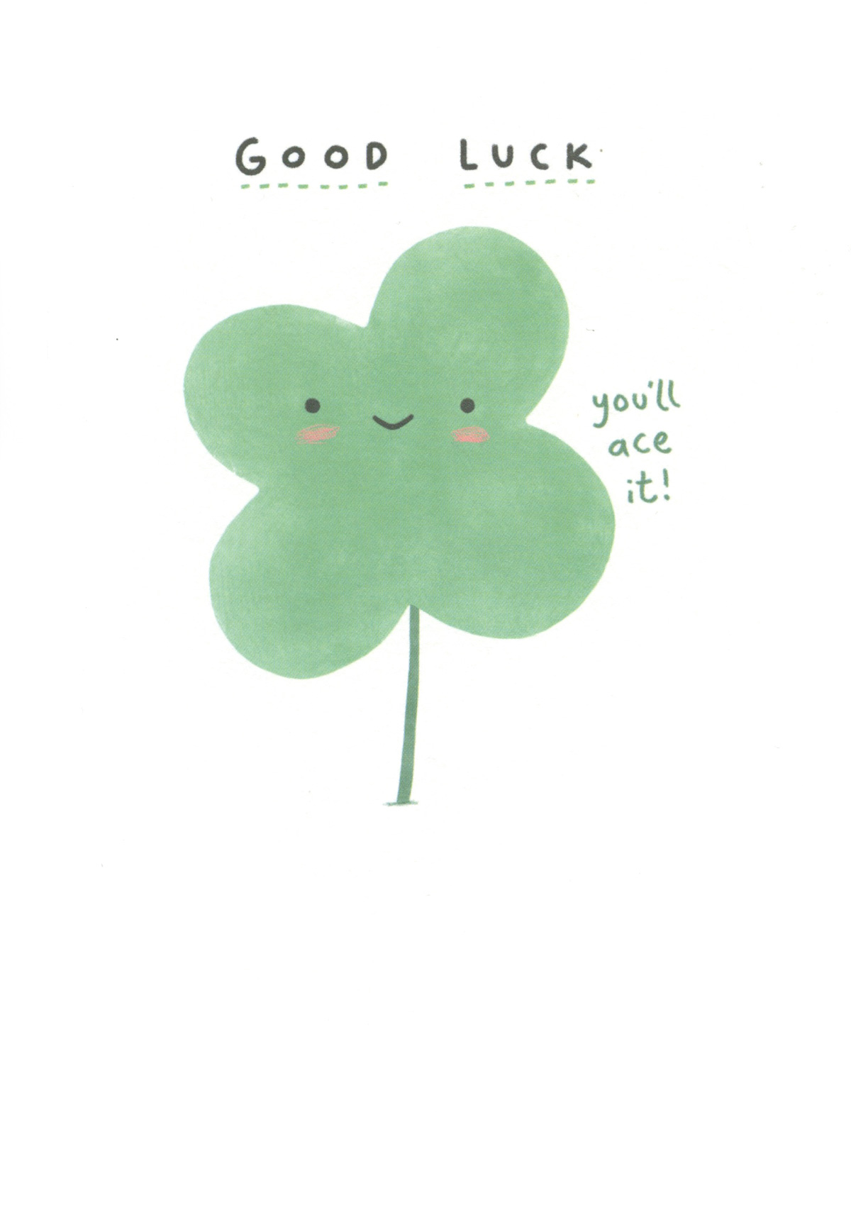 You'll Ace It Good Luck Card