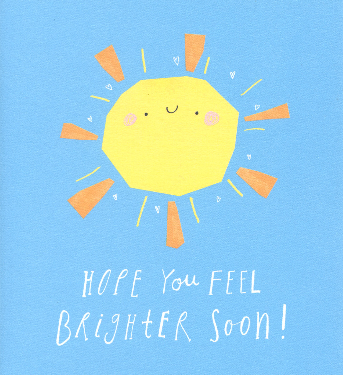 Feel Brighter Soon Get Well Card