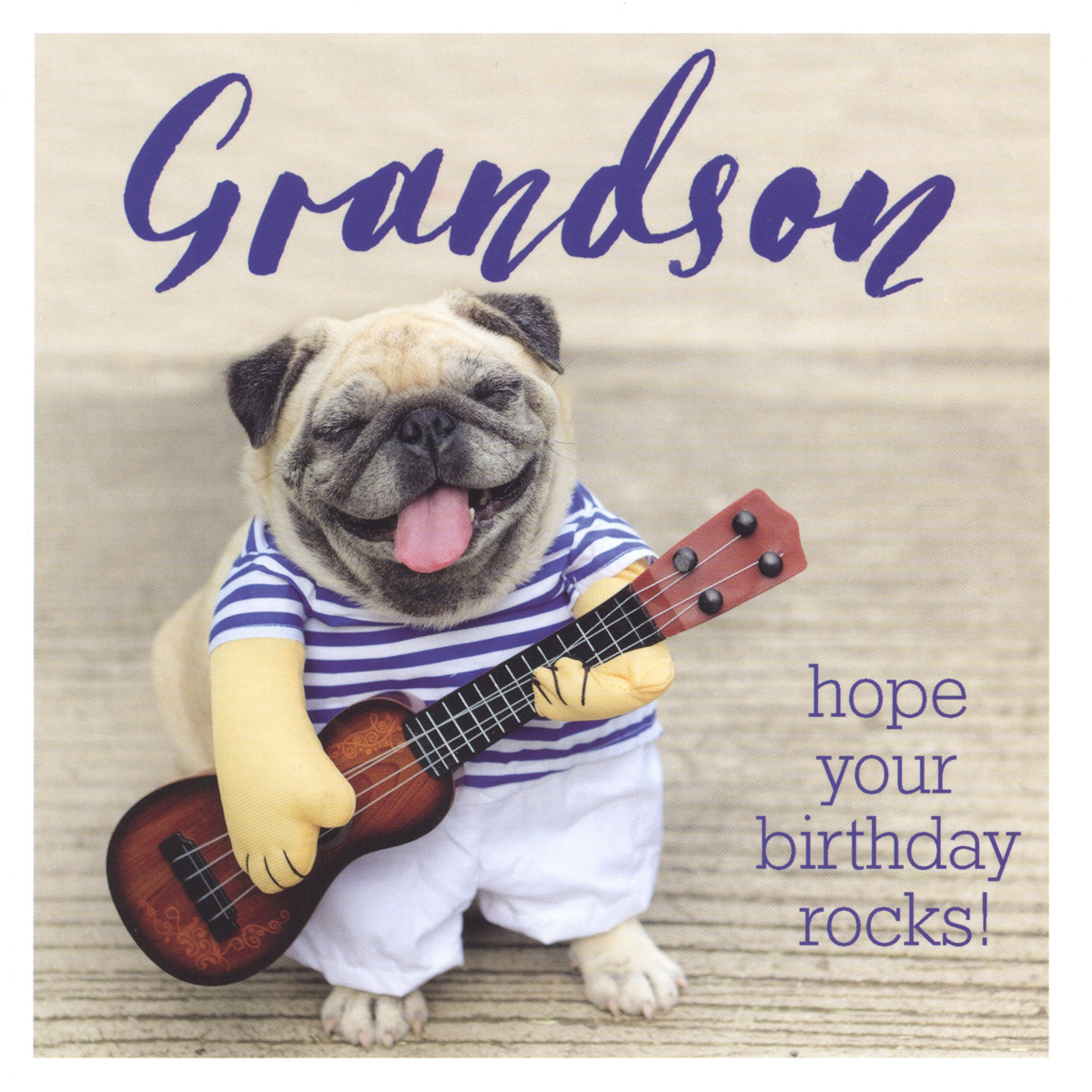 Rockin' Grandson Birthday Card
