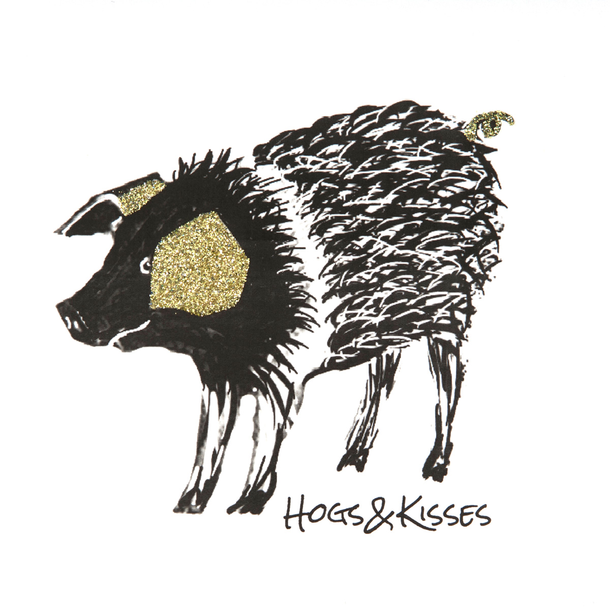 Hogs and Kisses Greeting Card