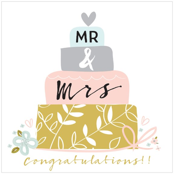 Mr and Mrs Extra Large Wedding Card