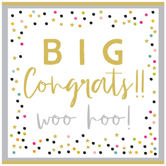 Woo Hoo Extra Large Congratulations Card