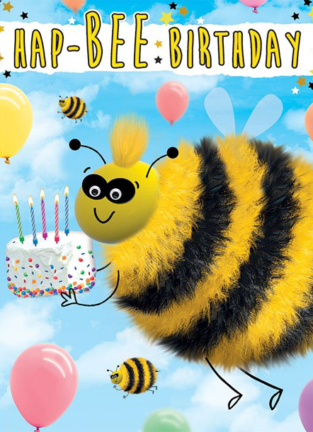 Bumble Bee Extra Large Birthday Card