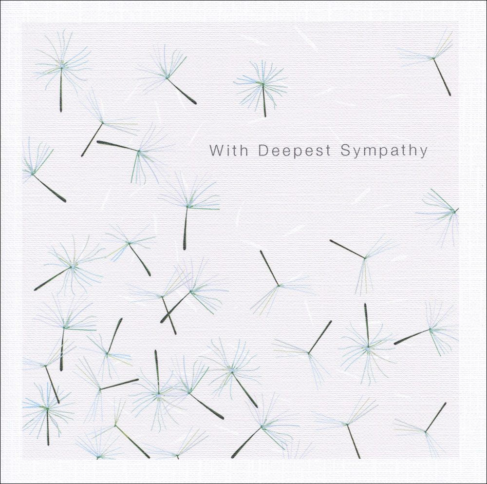 Floating Seeds Sympathy Card