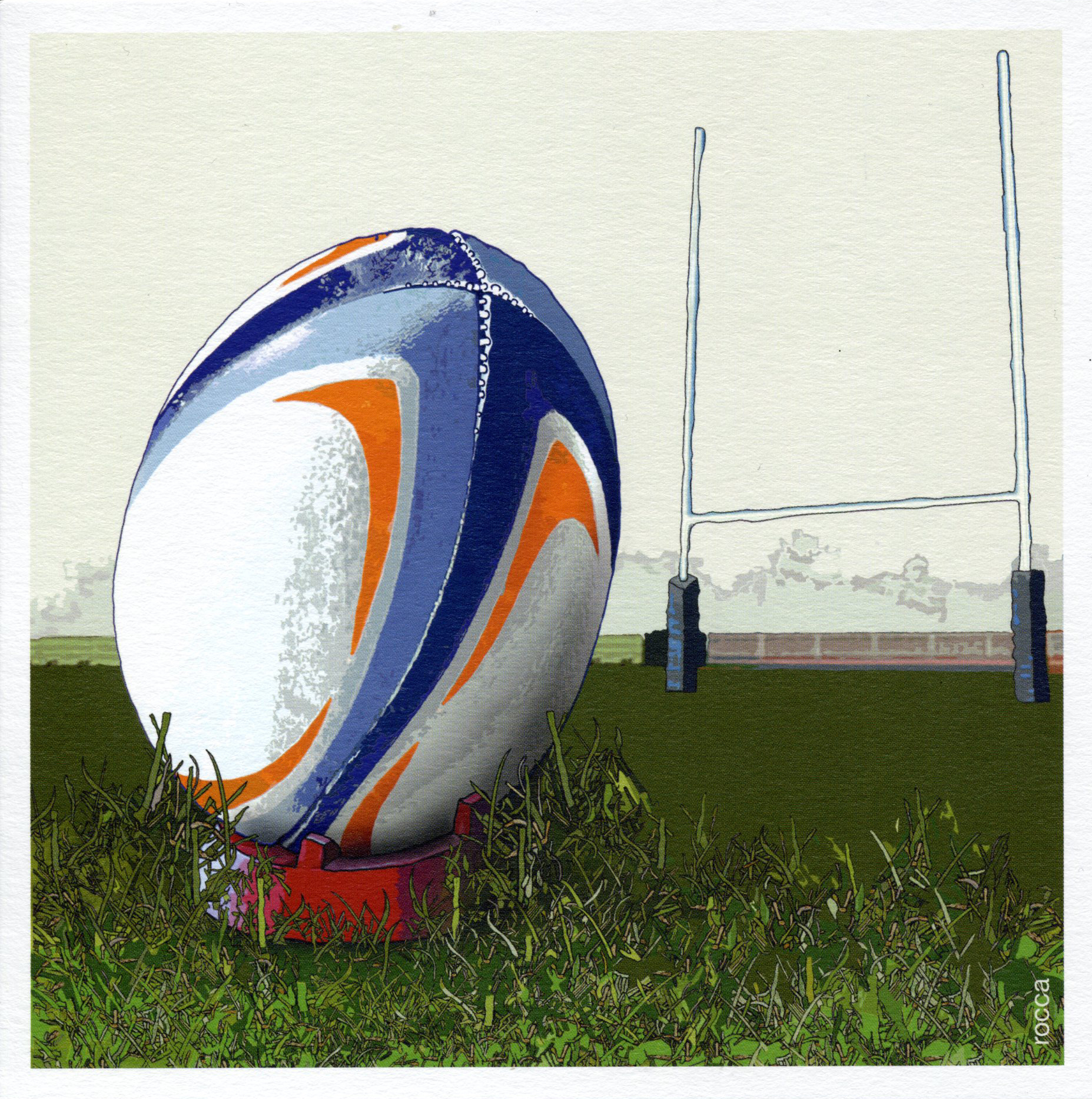 Three Points Rugby Greeting Card