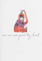 Dust Off Your Party Hat Birthday Card