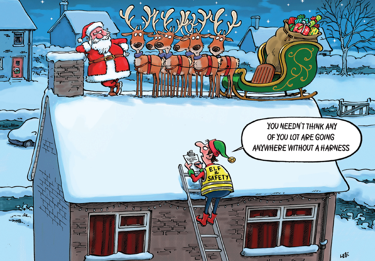Elf and Safety Personalised Christmas Card