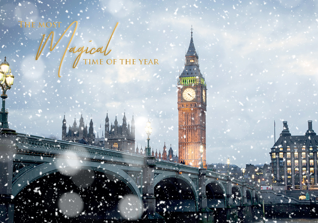 Magical London Personalised Christmas Card