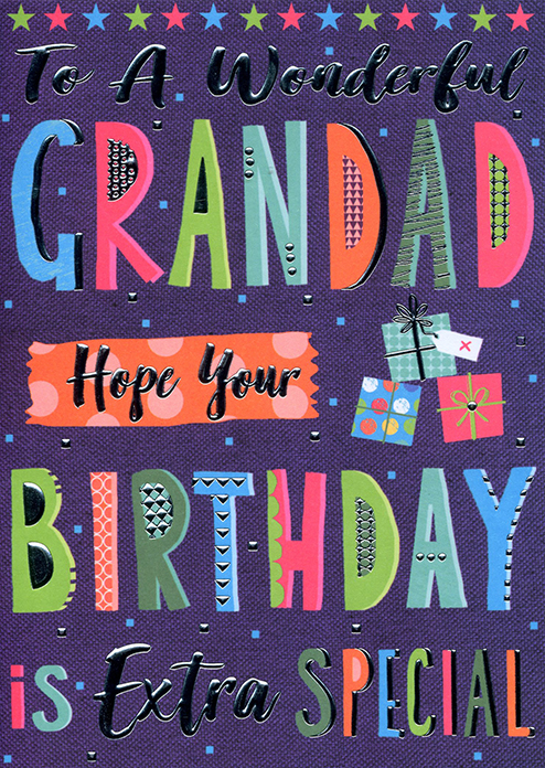 To A Wonderful Grandad Birthday Card