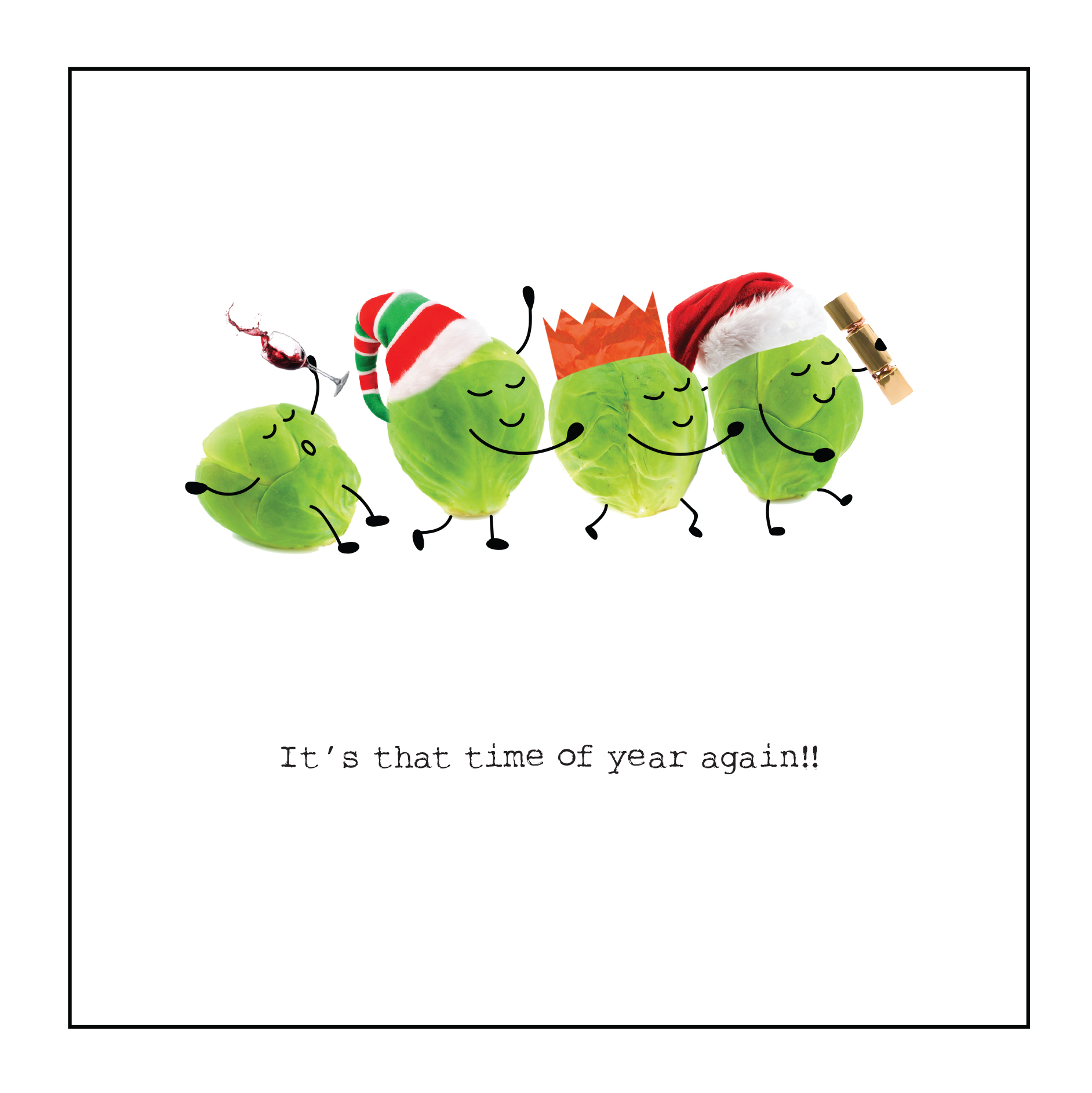 Sprout Congo Personalised Christmas Card