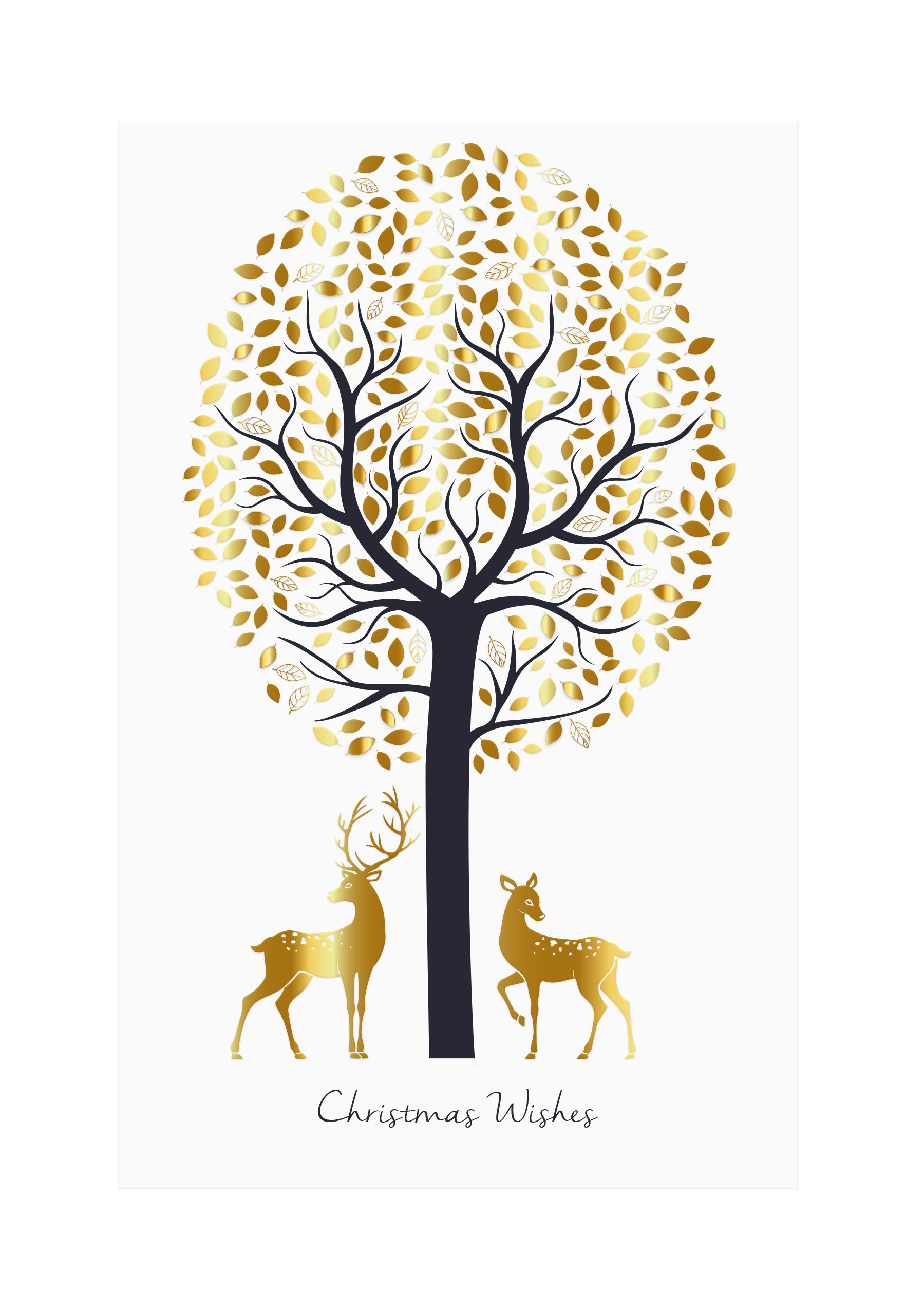 Deer Couple Personalised Christmas Card