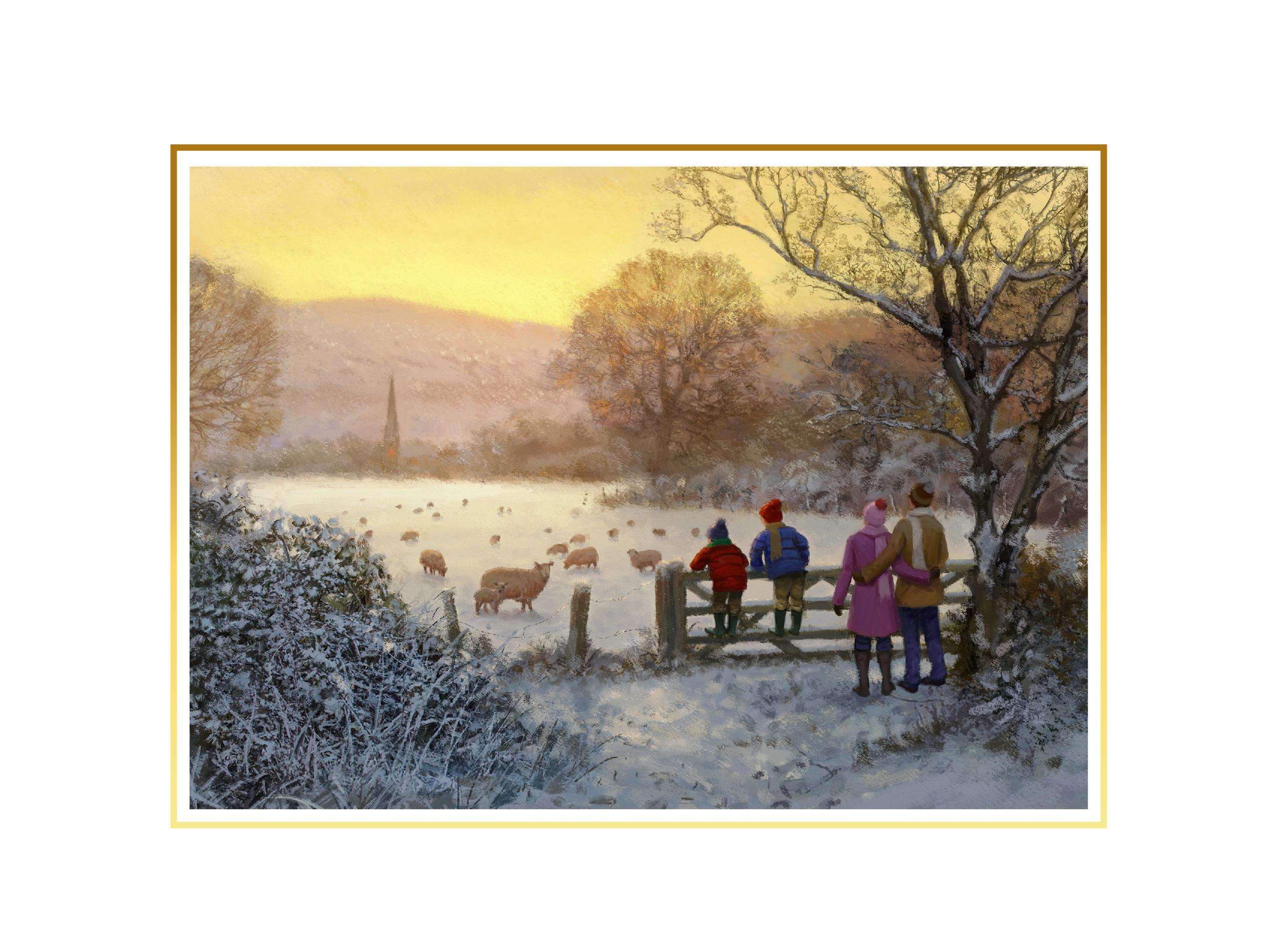 Family Time Personalised Christmas Card