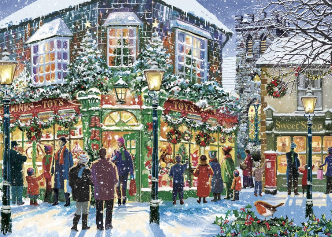 A Shopping Street Personalised Christmas Card
