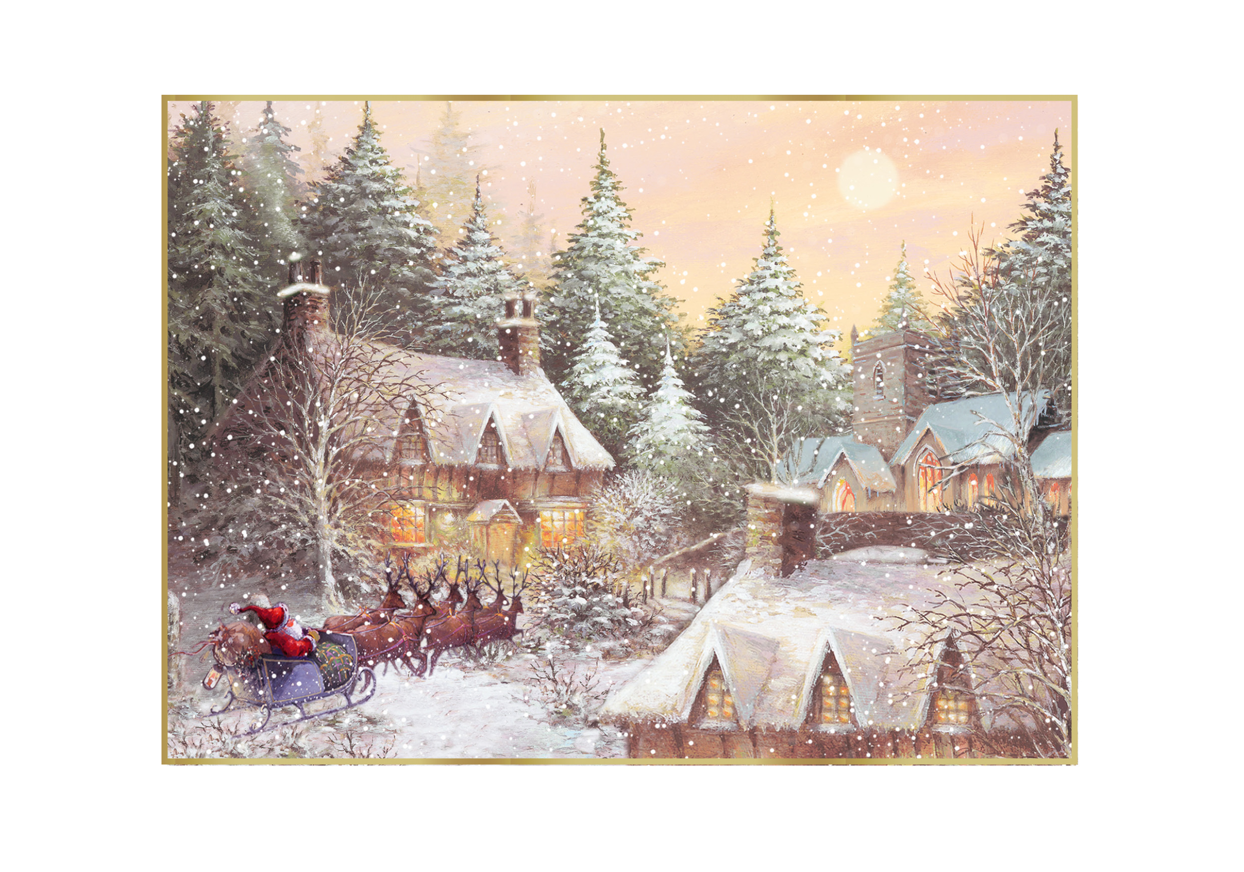 Little Village Personalised Christmas Card
