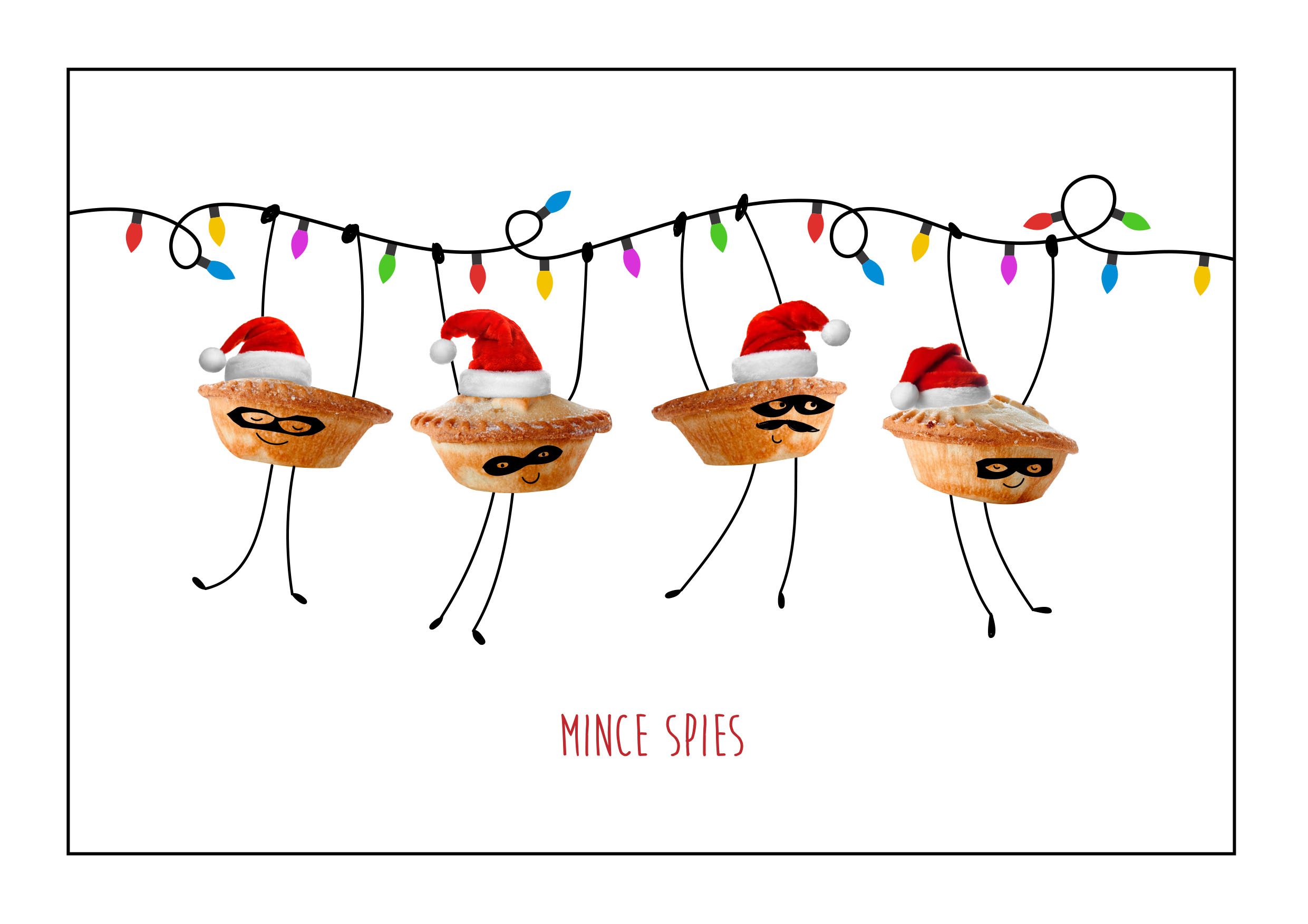Mince Spies Personalised Christmas Card