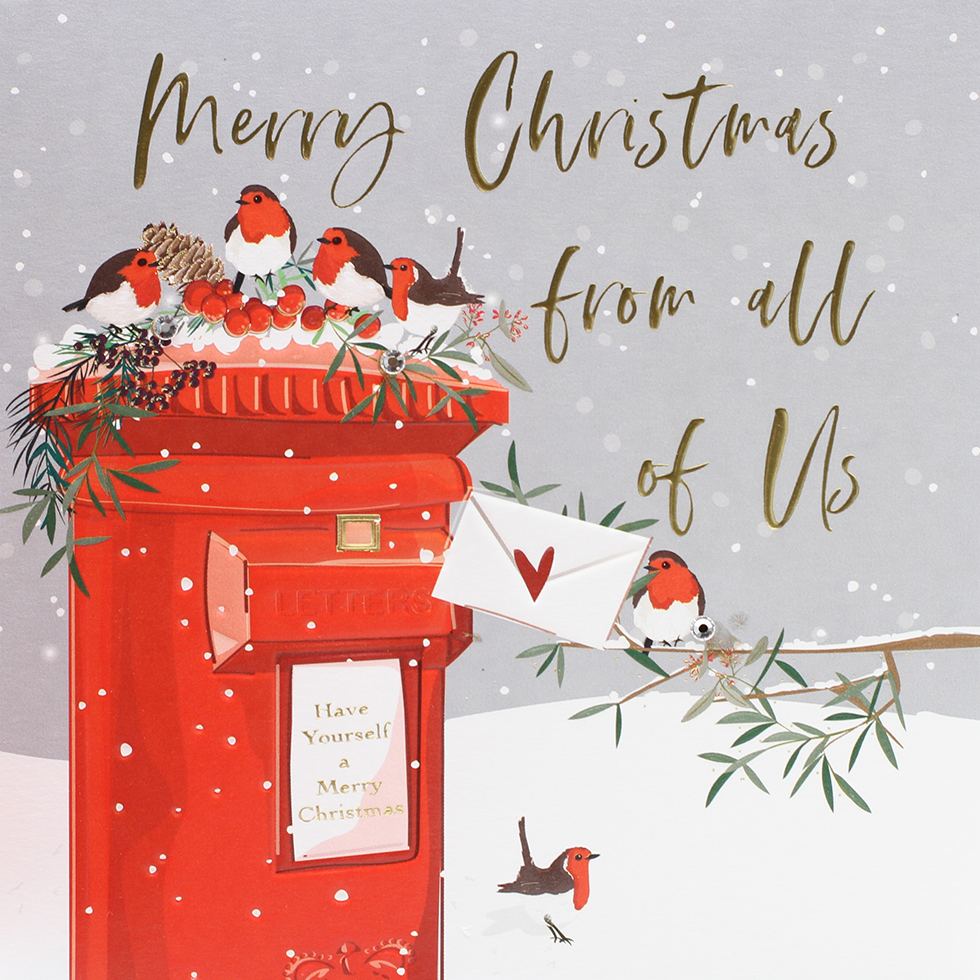 Postbox From All Of Us Christmas Card