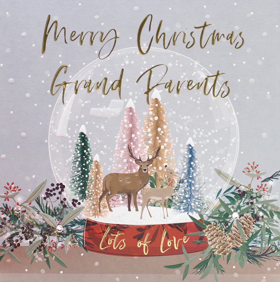 Snow Globe Grandparents Christmas Card