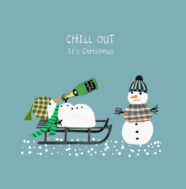 Chill Out Christmas Card