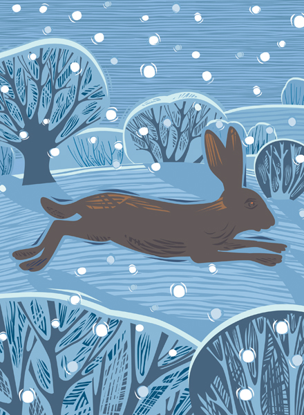Country Hare Personalised Christmas Card
