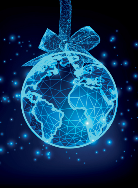 World Bauble Personalised Christmas Card