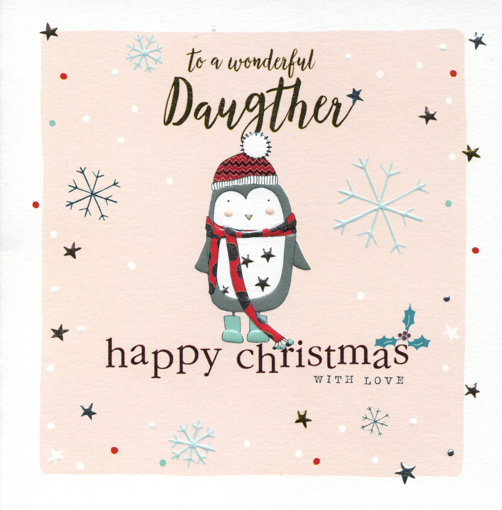 Penguin Daughter Christmas Card