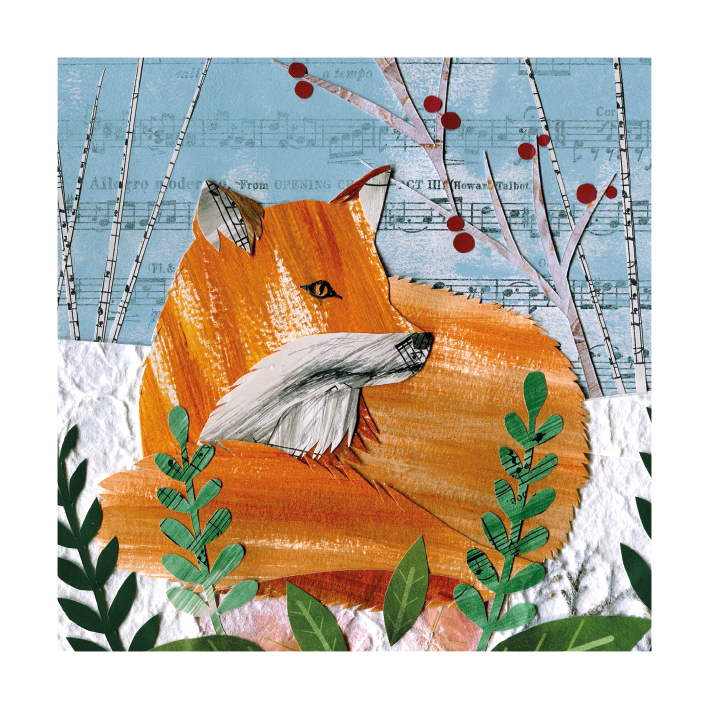Cosy Fox Christmas Card Pack (8)