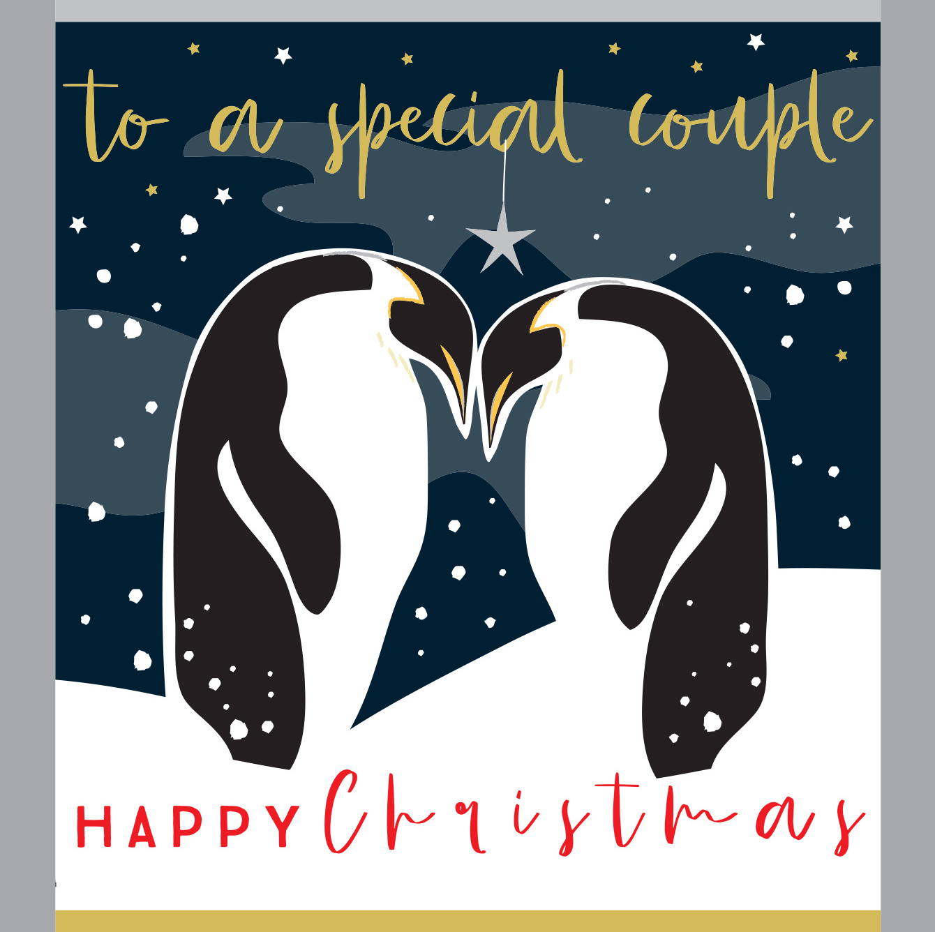 Penguins Special Couple Christmas Card