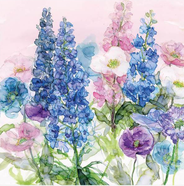 Bright Blue Delphiniums Greeting Card