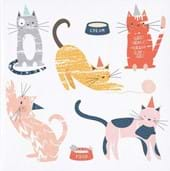 Colourful Cats Greeting Card