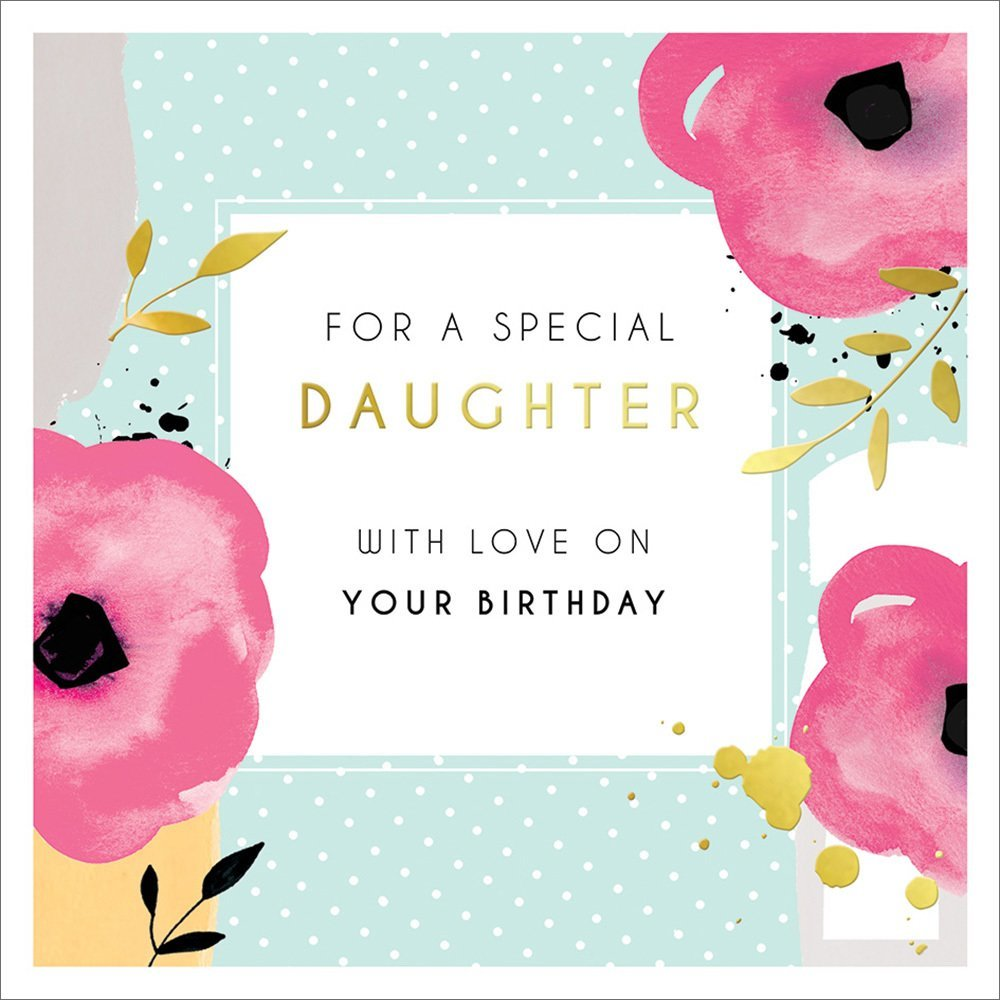 Poppies Daughter Birthday Card