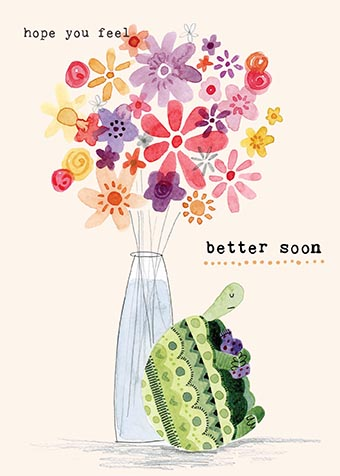 Tortoise Get Well Soon Card