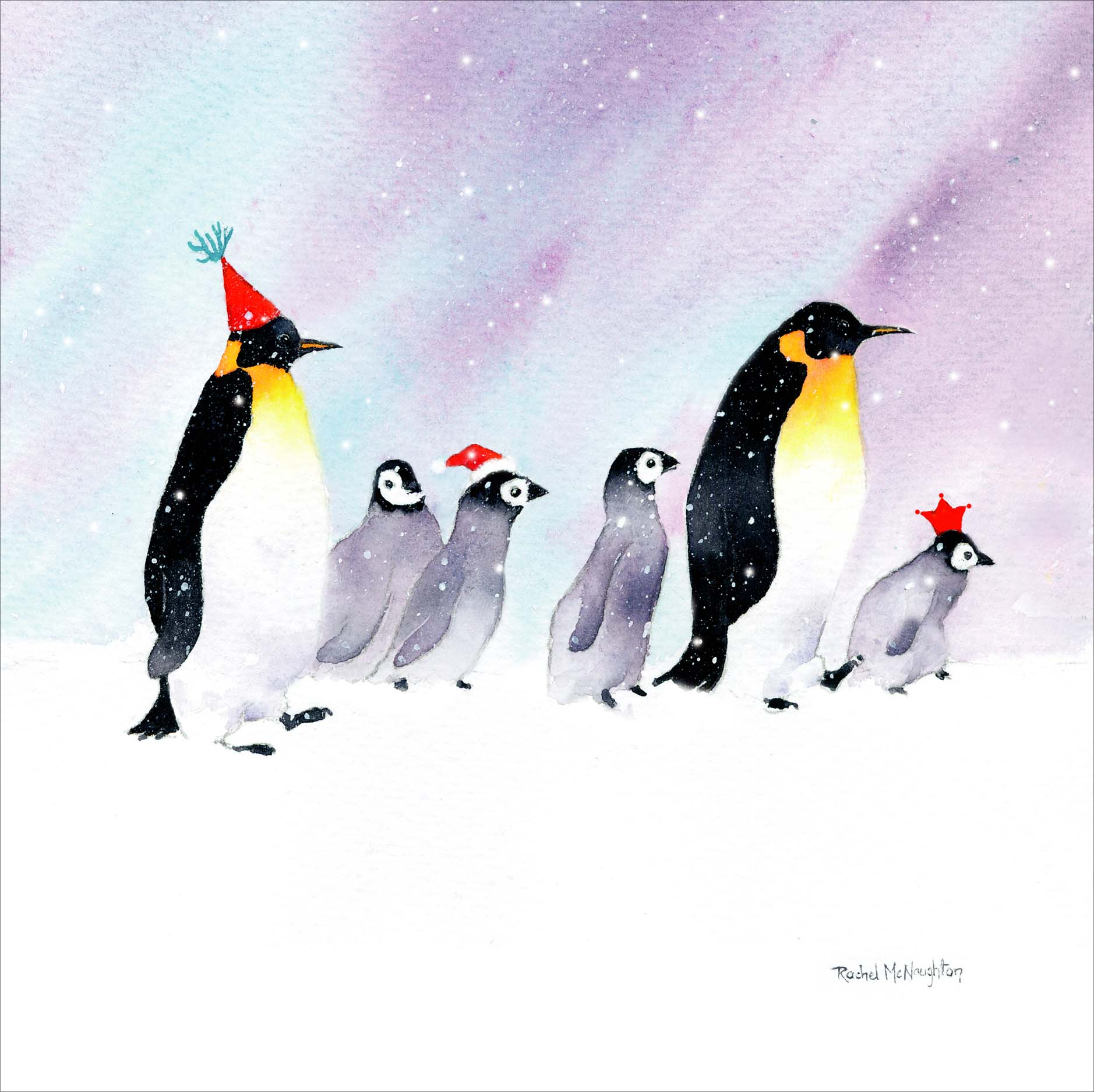 Penguin March Christmas Card