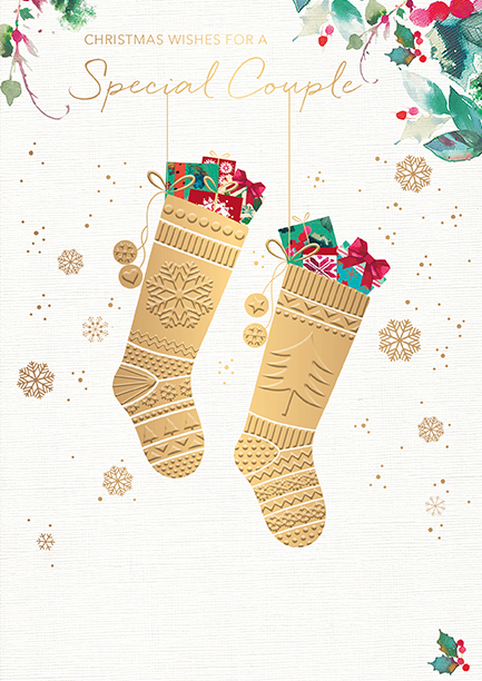 Stockings Special Couple Christmas Card