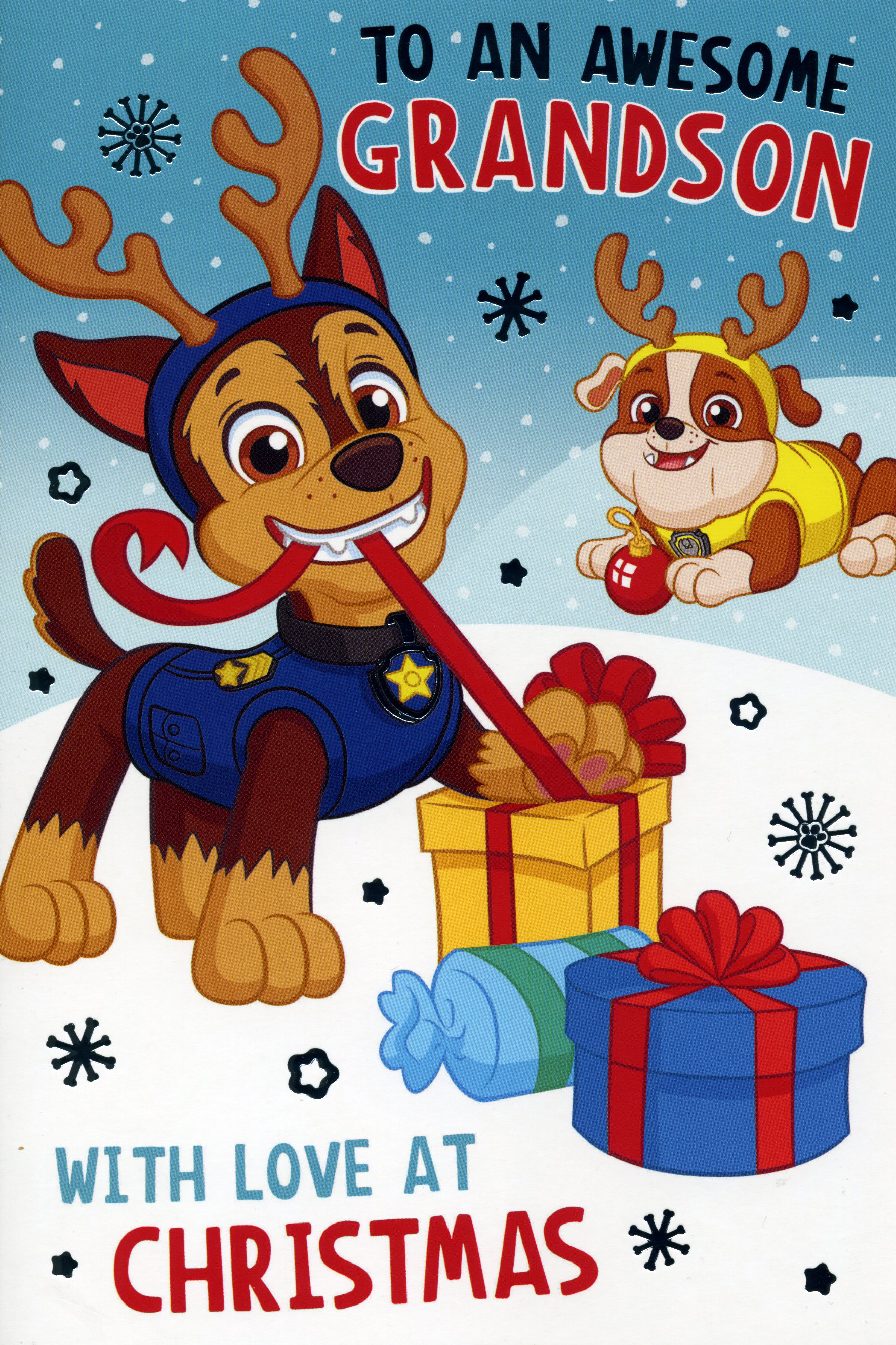 Paw Patrol Grandson Christmas Card