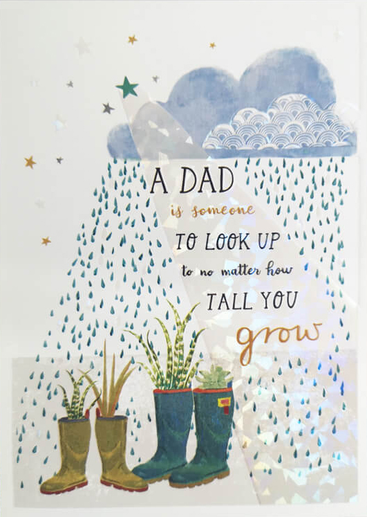 A Dad to Look Up To Greeting Card