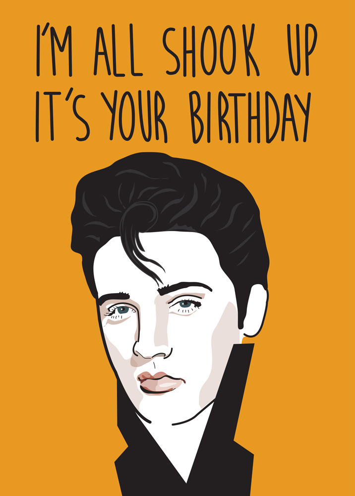 All Shook Up Birthday Card