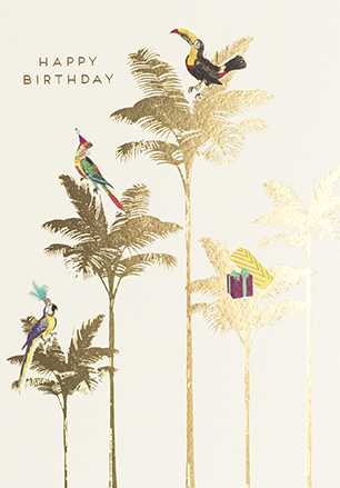 Palm Trees Birthday Card
