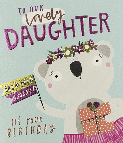 Koala Bear Daughter Birthday Card