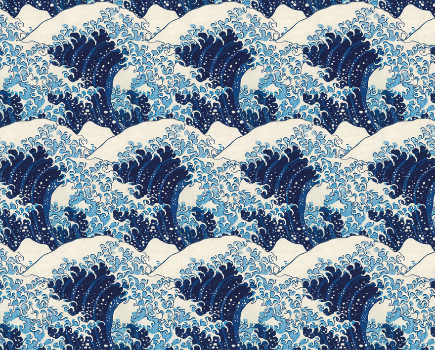 Blue Wave Wrapping Paper