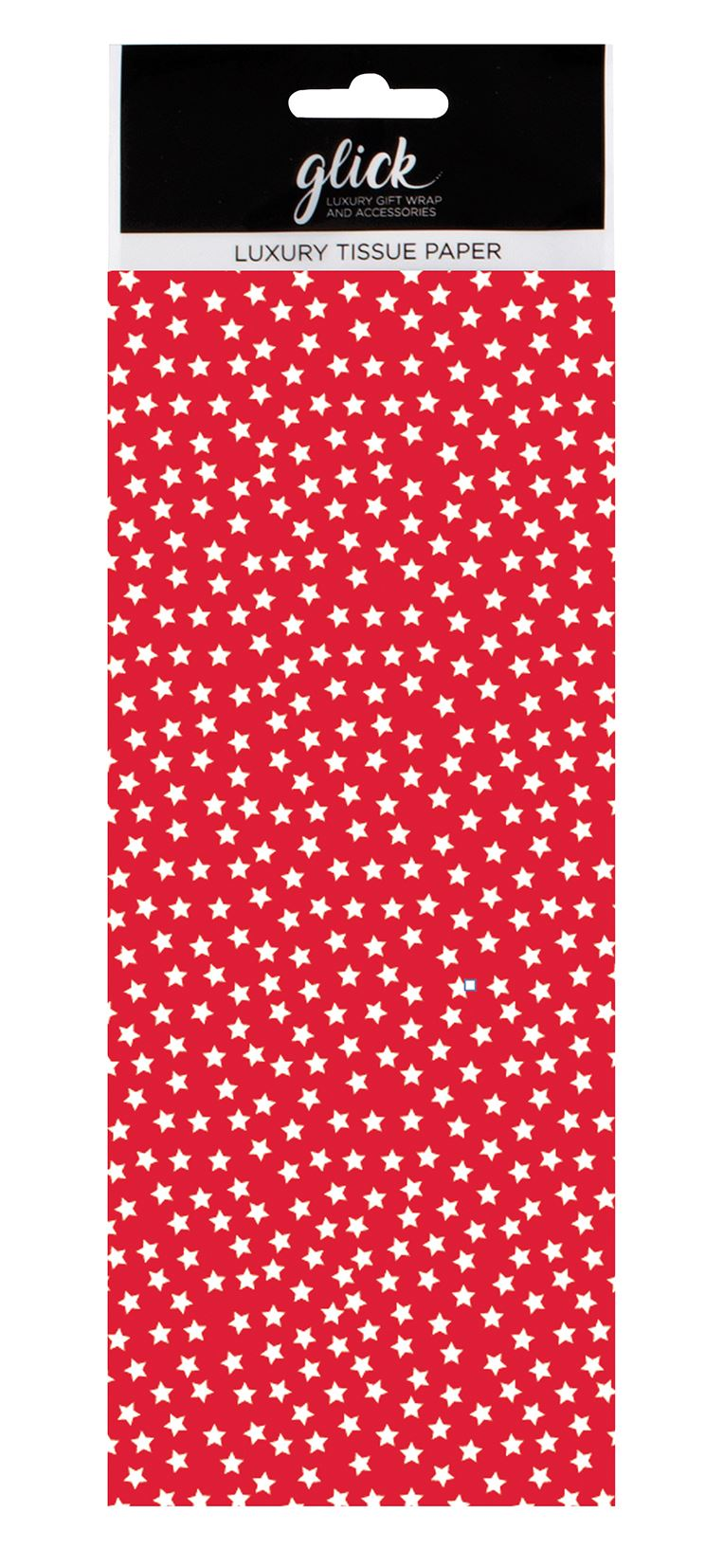 Red Stars Christmas Tissue Paper 4 Sheets