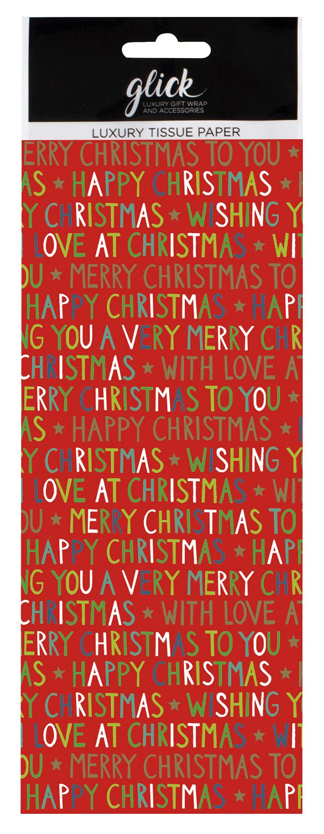 With Love Christmas Tissue Paper 4 Sheets