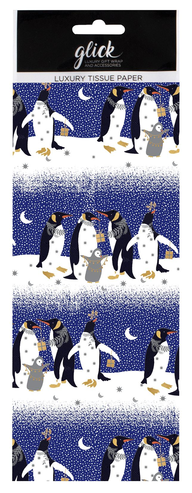 Penguins Christmas Tissue Paper 4 Sheets
